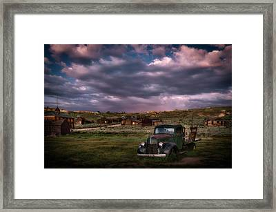 A Summer Evening In Bodie Framed Print