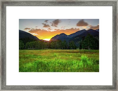 Framed Print featuring the photograph A Summer Evening In Colorado by John De Bord