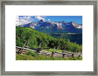 Framed Print featuring the photograph A Summer In Telluride by John De Bord