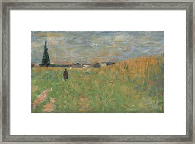 A Summer Landscape Framed Print by Georges Seurat