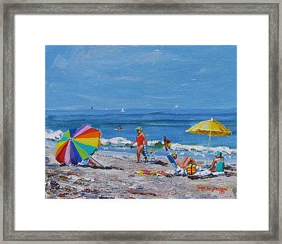 A Summer Framed Print by Laura Lee Zanghetti