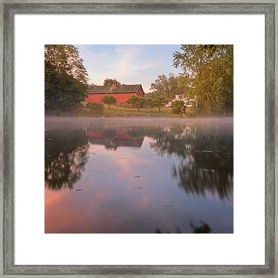 A Summer Morning Square Framed Print