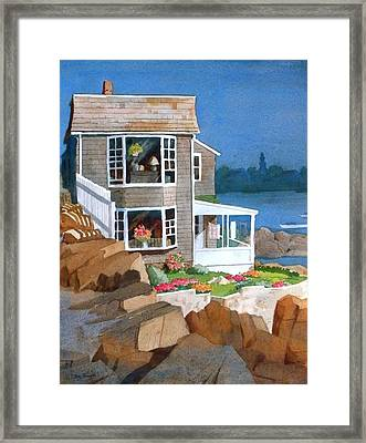 A Summer Place Framed Print by Faye Ziegler