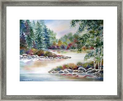 A Summer Place Framed Print by Deborah Ronglien