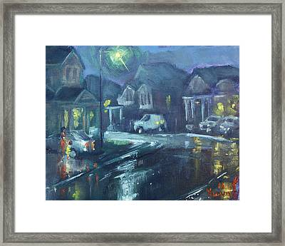 A Summer Rainy Night Framed Print by Ylli Haruni