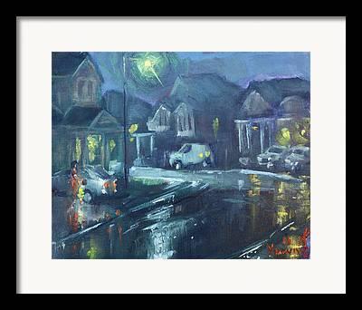 Rainy Night Framed Prints