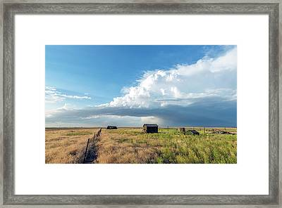 A Summer Storm In Eastern Colorado Framed Print