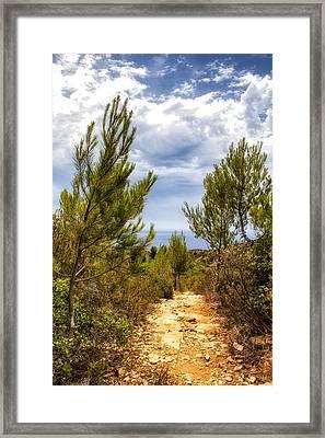 A Summer Walk By The Med Framed Print