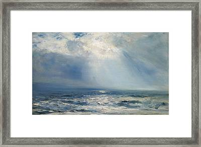 A Sunbeam Over The Sea Framed Print