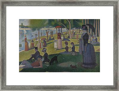 A Sunday Afternoon On The Island Of La Grande Jatte Framed Print by Georges-Pierre Seurat