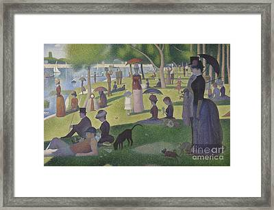 A Sunday On La Grande Jatte Framed Print by Georges Pierre Seurat