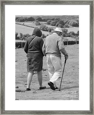 A Sunday Stroll In The Country Framed Print