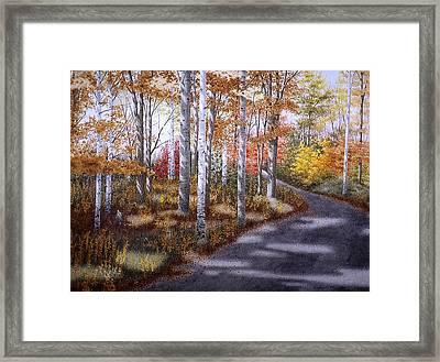 A Sunny Autumn Day Framed Print by Conrad Mieschke