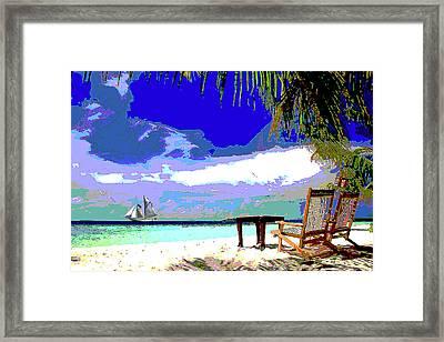 A Sunny Day At The Beach Framed Print