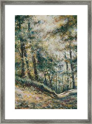 Framed Print featuring the painting A Sunny Day by Tigran Ghulyan