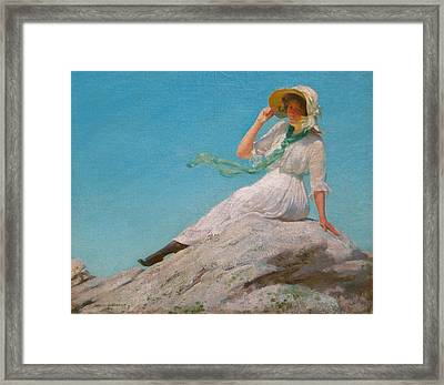 A Sunny Morning  Framed Print by Charles Courtney Curran