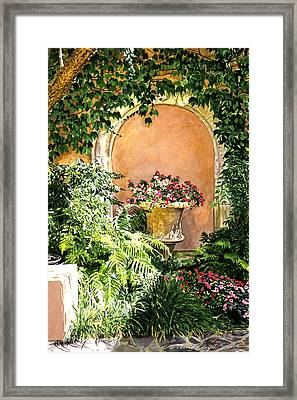 A Sunny Nook Hotel Bel - Air Framed Print by David Lloyd Glover