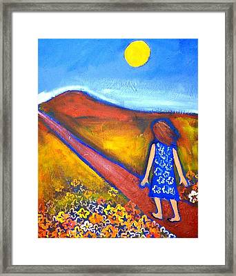 Framed Print featuring the painting A Sunny Path by Winsome Gunning
