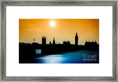 A Sunny Shape Framed Print