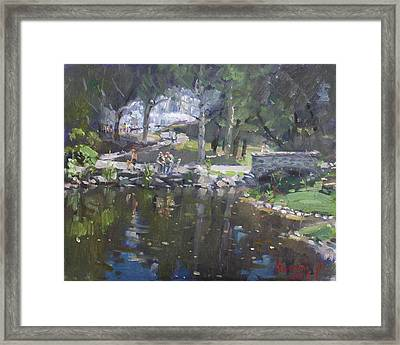 A Sunny Sunday In Williamsville Park Framed Print