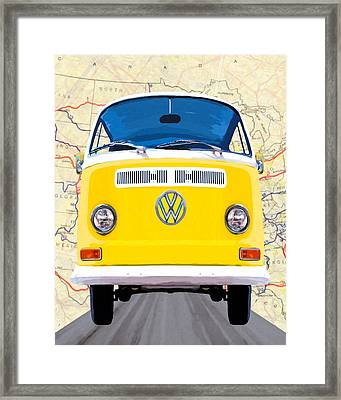 A Sunny Yellow Disposition Framed Print