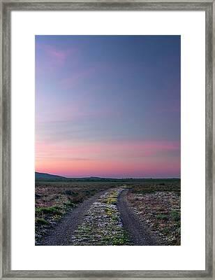 A Sunrise Path Framed Print by Leland D Howard