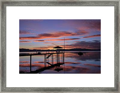Framed Print featuring the photograph A Sunrise To Wake The Dead  by Sean Sarsfield