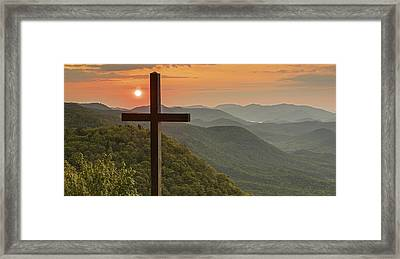 A Sunrise View From Pretty Place Greenville Sc Framed Print by Willie Harper