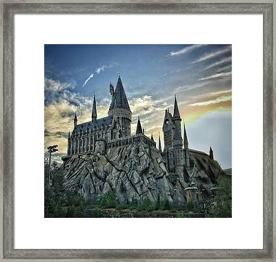 A Sunset At Hogwarts  Framed Print by Luis Rosario