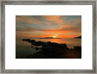A Sunset In Ibiza Framed Print