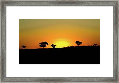 A Sunset In Namibia Framed Print by Ernie Echols