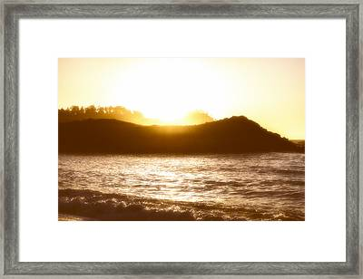A Sunset Framed Print by Joseph S Giacalone