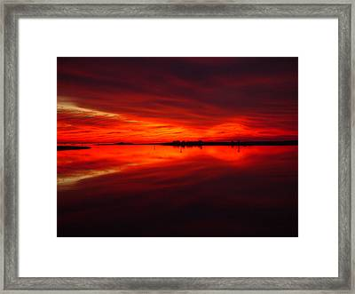 A Sunset Kiss -debbie-may Framed Print by Debbie May