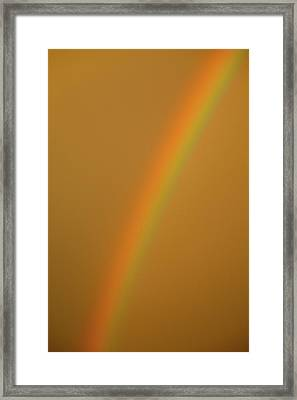 A Sunset Rainbow Framed Print