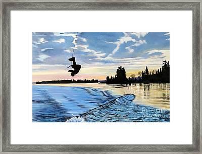 A Sunset Show Framed Print