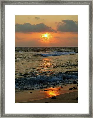 Framed Print featuring the photograph A Sunset To Remember by Lori Seaman