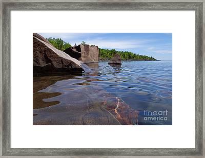 A Superior Shoreline Framed Print by Sandra Updyke