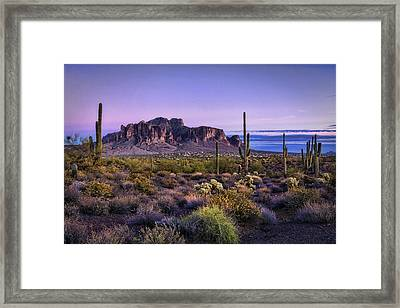 A Superstitious Evening  Framed Print