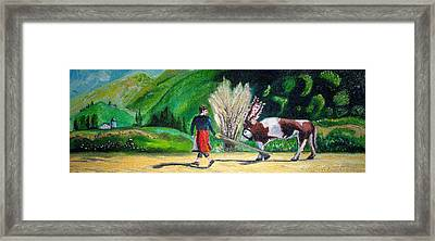 Framed Print featuring the painting  Swiss Girl by Patricia Arroyo