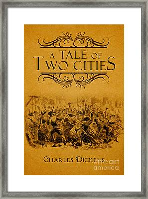 A Tale Of Two Cities Book Cover Movie Poster Art 1 Framed Print by Nishanth Gopinathan