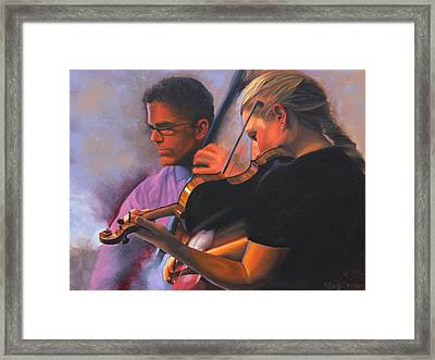 A Tale Of Two Musicians Framed Print