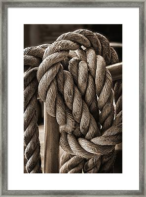 A Tangled Mess Framed Print