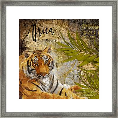 A Taste Of Africa Tiger Framed Print by Mindy Sommers