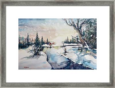 A Taste Of Winter Framed Print