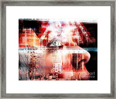 A Tear For The Fallen Framed Print by John Rizzuto