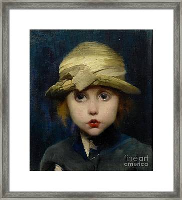 A Tearful Child Framed Print by MotionAge Designs
