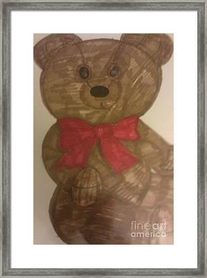 A Teddy Bear Framed Print