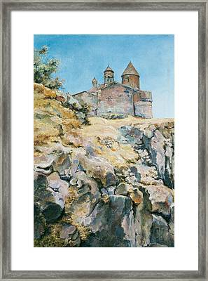 A Temple On The Rock Framed Print
