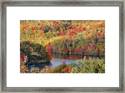 A Tennessee Autumn Framed Print by Debbie Karnes