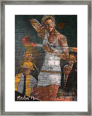 A Tennis Player Framed Print by Nedunseralathan R